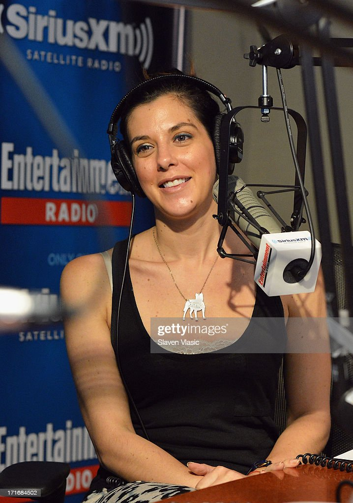 Sirius XM's EW Radio co-host <a gi-track='captionPersonalityLinkClicked' href=/galleries/search?phrase=Jenna+Morasca&family=editorial&specificpeople=208192 ng-click='$event.stopPropagation()'>Jenna Morasca</a> at SiriusXM Studios on June 27, 2013 in New York City.