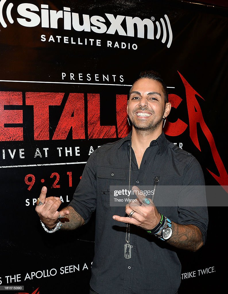 SiriusXM Director of Programming Jose Mangin attends Metallica's private, exclusive concert for SiriusXM listeners at The Apollo Theater on September 21, 2013 in New York City.