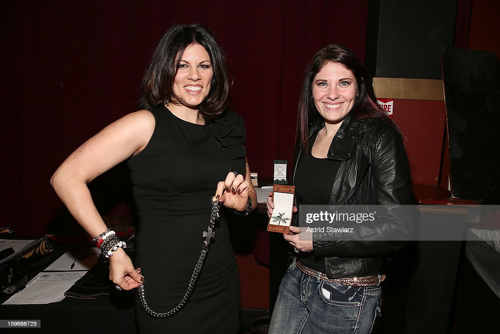 SiriusXM DJ Kayla Riley and Custom Buffalo Jewelry designer Heather Lea attend Rock For Recovery, A Benefit For Victims Of Hurricane Sandy at the Gramercy Theatre on January 17, 2013 in New York City.