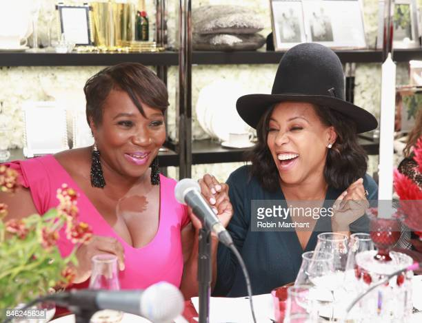 SiriusXM Host Bevy Smith and June Ambrose attend a Radio Special Celebrating The Anniversary Of Andy Cohen's SiriusXM Channel Radio Andy at...