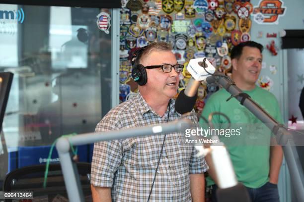 SiriusXM host Buzz Brainard interviews The Cadillac Three at SiriusXM Studios In Nashville on June 15 2017 in Nashville Tennessee