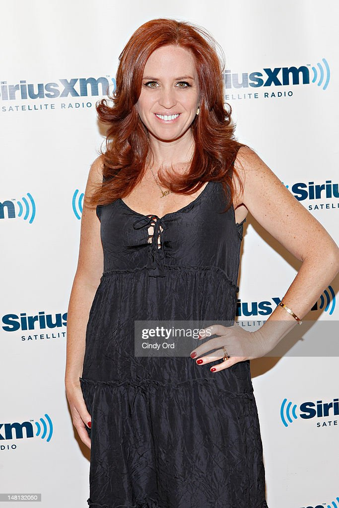 "SiriusXM host Jenny Hutt, host of ""Just Jenny"" at the SiriusXM Studio on July 10, 2012 in New York City."
