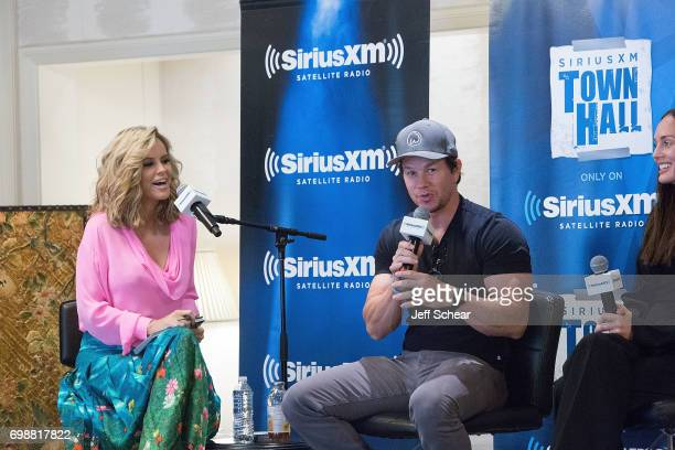 SiriusXM Host Jenny McCarthy and Mark Wahlberg attend SiriusXM's 'Town Hall' With the Cast of 'Transformers The Last Knight' Town Hall Hosted By...