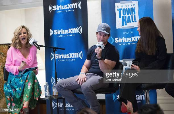 SiriusXM Host Jenny McCarthy Mark Wahlberg and Laura Haddock attend SiriusXM's 'Town Hall' With the Cast of 'Transformers The Last Knight' Town Hall...