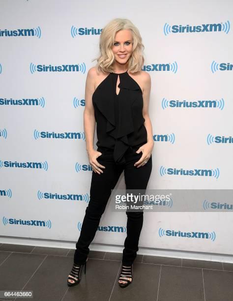 SiriusXM host Jenny McCarthy poses at SiriusXM Studios on April 4 2017 in New York City