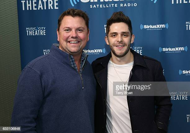 SiriusXM Host Storme Warren and Singersongwriter Thomas Rhett visit SiriusXM Studios on January 30 2017 in Nashville Tennessee