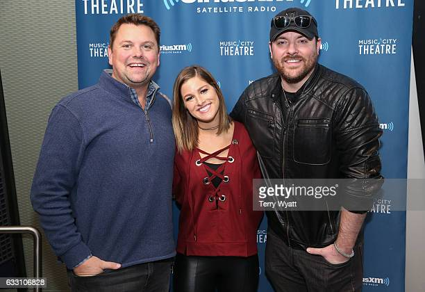 SiriusXM Host Storme Warren Singersongwriter Chris Young and Cassadee Pope visit SiriusXM Studios on January 30 2017 in Nashville Tennessee