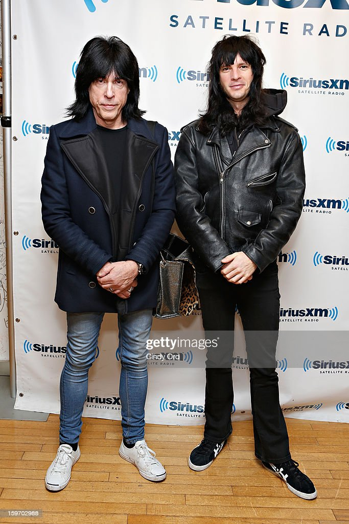 SiriusXM hosts <a gi-track='captionPersonalityLinkClicked' href=/galleries/search?phrase=Marky+Ramone&family=editorial&specificpeople=1995170 ng-click='$event.stopPropagation()'>Marky Ramone</a> and Luc Carl pose at the SiriusXM Studios on January 18, 2013 in New York City.