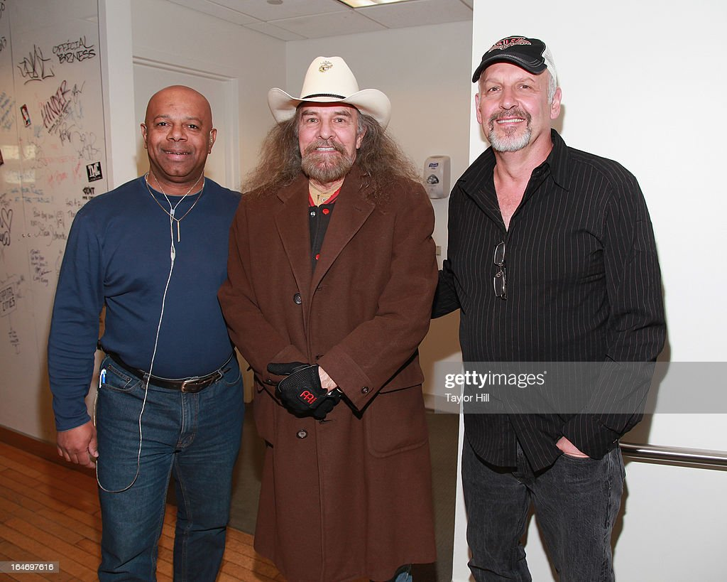 SiriusXM Patriot host David Webb, Artimus Pyle of Lynyrd Skynyrd, and actor Nick Searcy visit SiriusXM Studios on March 26, 2013 in New York City.