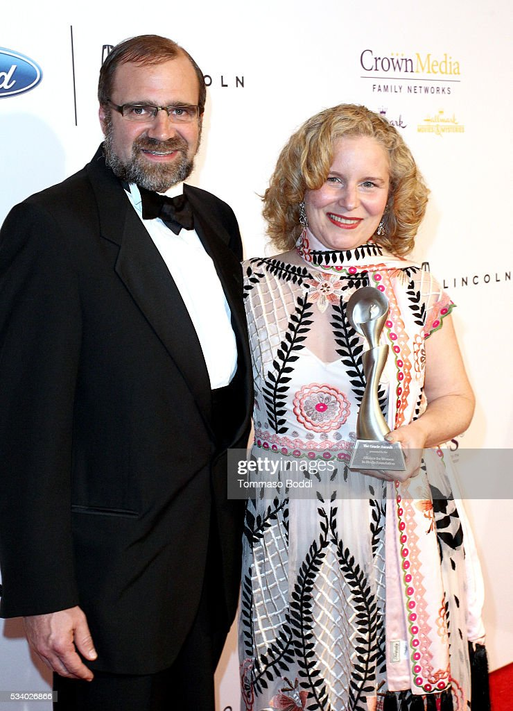 SiriusXM's Grant Godfrey (L) and Mary Sue Twohy attend the 41st Annual Gracie Awards at Regent Beverly Wilshire Hotel on May 24, 2016 in Beverly Hills, California.