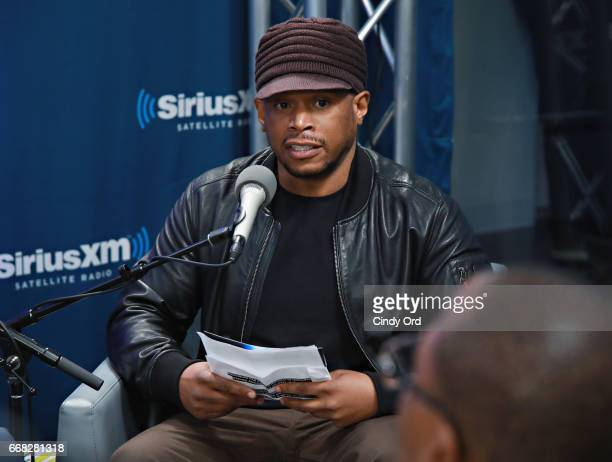 SiriusXM's Sway Calloway discusses the prison tech training program 'The Last Mile' with founders Chris Redlitz and Beverly Parenti during a SiriusXM...