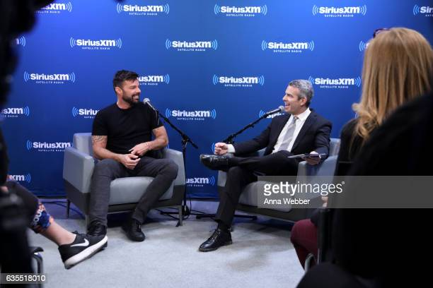 SiriusXM's 'Town Hall' With Ricky Martin 'Town Hall' To Air On Andy Cohen's Exclusive SiriusXM Channel Radio Andy on February 15 2017 in New York City