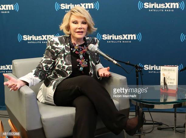 SiriusXM's Unmasked Special With Joan Rivers at SiriusXM on June 30 2014 in New York City
