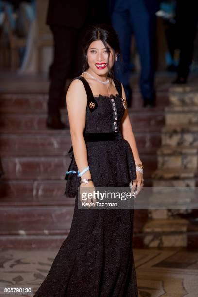 Sirivannavari Nariratana arrives for the amfAR Paris Dinner at Le Petit Palais on July 2 2017 in Paris France