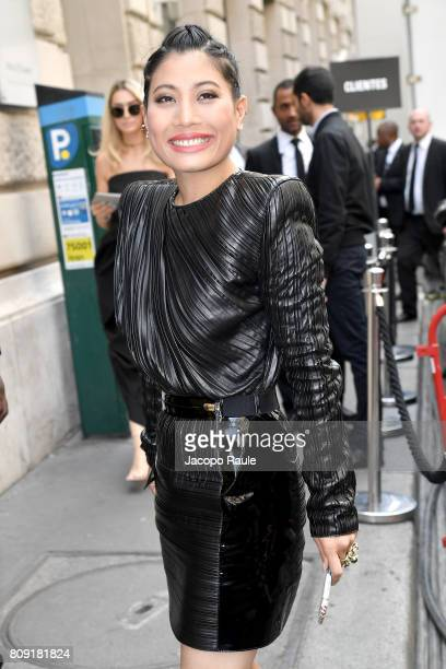 Sirivannavari Nariratana is seen arriving at Elie Saab fashion show during the Paris Fashion Week Haute Couture Fall/Winter 20172018 on July 5 2017...