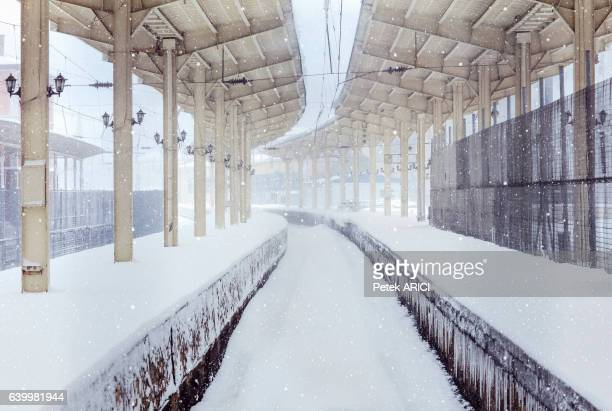 Sirkeci Train Station on a snowy day