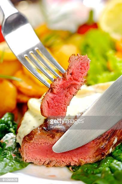Sirloin steak dinner