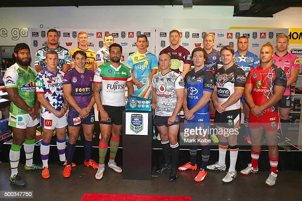Sisa Waqa of the Canberra Raiders Trent Hodkinson of the Newcastle Knights Chris Heighington of the Cronulla Sharks Billy Slater of the Melbourne...