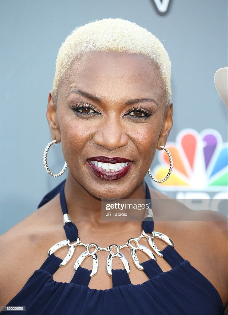 Sisaundra Lewis attends 'The Voice' Season 6 Top 12 Red Carpet Event on April 15, 2014 in Universal City, California.