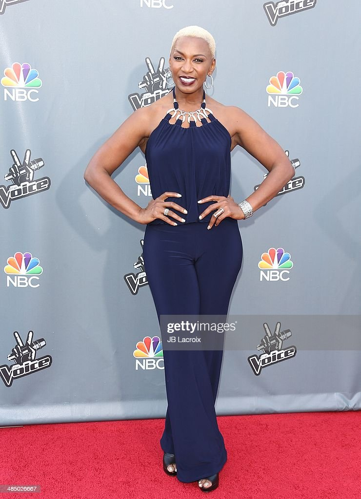 <a gi-track='captionPersonalityLinkClicked' href=/galleries/search?phrase=Sisaundra+Lewis&family=editorial&specificpeople=12521038 ng-click='$event.stopPropagation()'>Sisaundra Lewis</a> attends 'The Voice' Season 6 Top 12 Red Carpet Event on April 15, 2014 in Universal City, California.