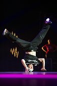 Sisavan performs onstage during the Hip Hop International France Championship at the Zenith on May 23 2015 in Paris France