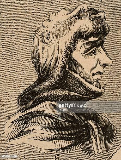Sisenand or Sisinand Visigothic King of Hispania Septimania and Galicia Portrait Engraving