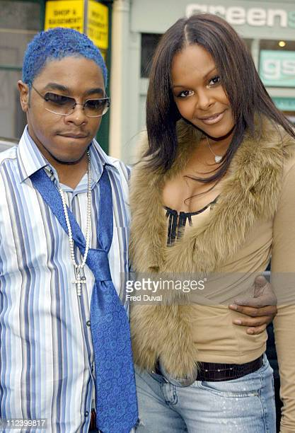 Sisqo and Samantha Mumba during London Fashion Week Spring 2005 Scott Henshall Arrivals at ExSaatchi Gallery in London Great Britain