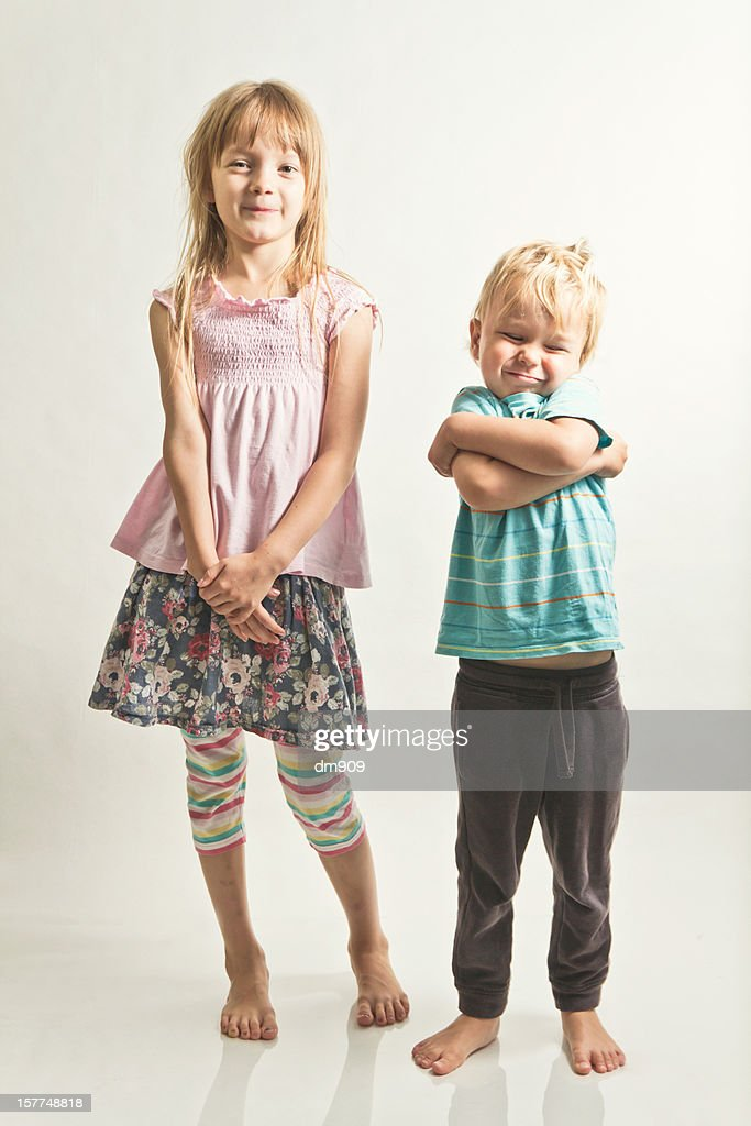 sister and brother : Stock Photo