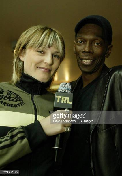 Sister Bliss and Maxi Jazz of Faithless during their guest appearance on MTV's TRL Total Request Live show