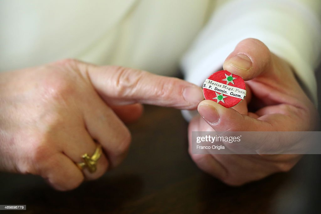 Sister Maria Angelica showes how to assemble a small reliquiary at the cloistered convent of St. Mary of the Rosary on February 6, 2014 in Vatican City, Vatican. The Dominican Nuns of St. Mary of the Rosary monastery supervise relics since the papacy of Pius IX (1860ca). Relics may be legitimately obtained from Church sources, the Vicariate in Rome, the religious Order of the Saint involved and the shrine of the Saint involved. When this is done, a donation is usually expected to cover the cost of the metal container (theca) that contains the relic, but in any case, a profit cannot legitimately be made from the sale of relics by anyone.