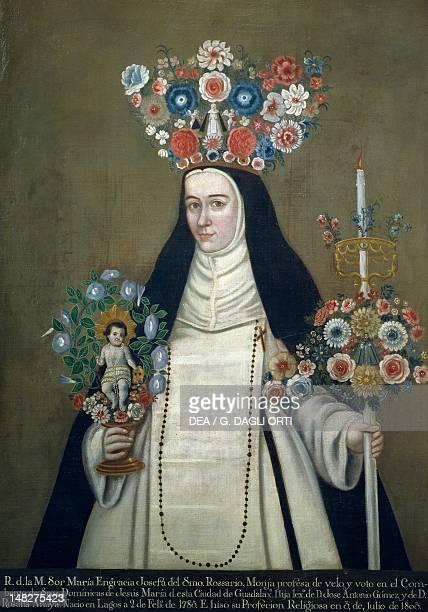 Sister Maria Josefa of the Most Holy Rosary who taught at the Convent of Jesus of Guadalajara 19th century Mexico Tepotzotlan Museo Nacional Del...