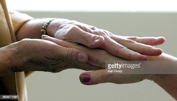 Sister Marlene Panko holds a Hands and Heart session every week in which she sits down with a hospital employee or patient to pray for their concerns...