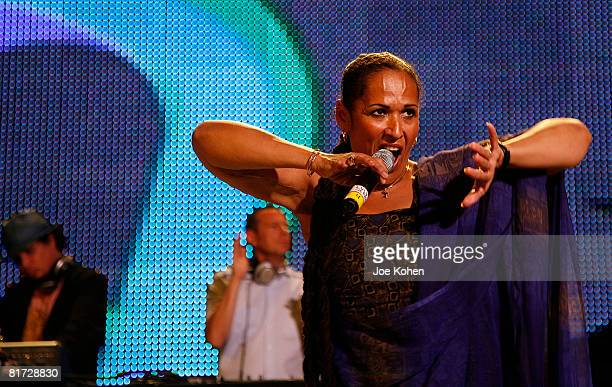 Sister Pat performs with Thievery Corporation at the 2008 Central Park Summerstage on June 26 2008 in New York City