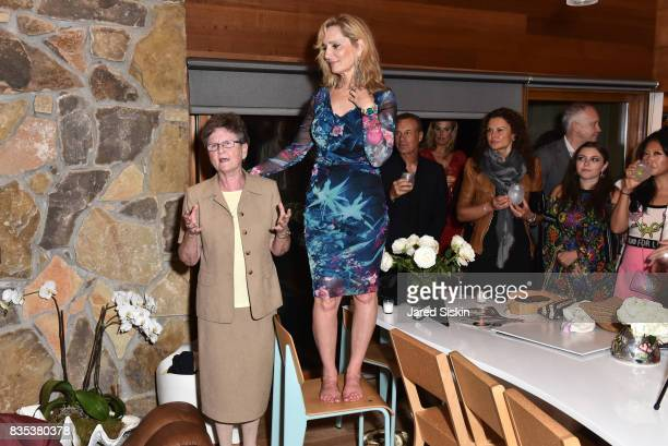 Sister Tesa Fitzgerald and Linda Argila attend ARTrageous Gala Art Auction benefitting Hour Children at a Private Residence on August 18 2017 in...