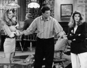 CHEERS 'Sisterly Love' Episode 21 Air Date Pictured Marcia Cross as Susan Howe Ted Danson as Sam Malone Kirstie Alley as Rebecca Howe Photo by NBCU...