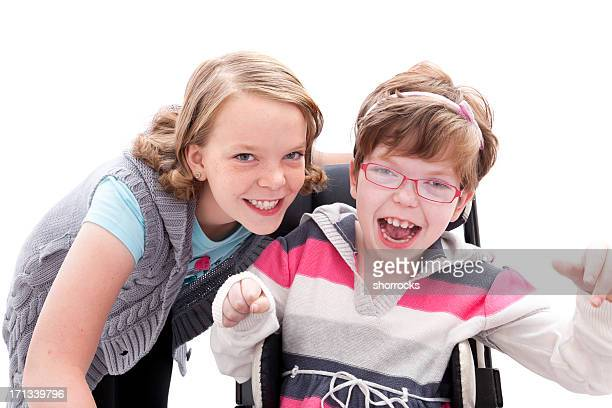 Sisters Ability to Laugh -- One in Wheelchair