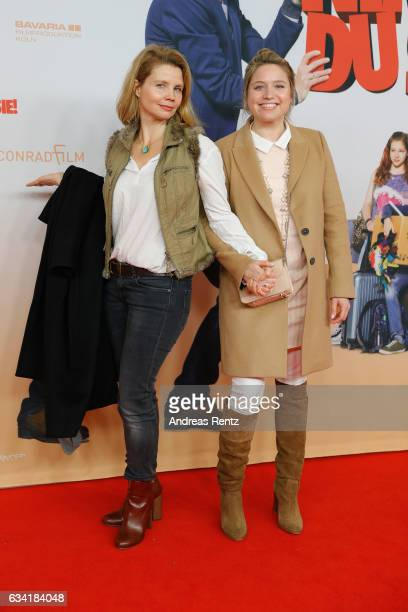 Sisters Annette Frier and Caroline Frier attend 'Schatz Nimm Du sie' German movie premiere at Cineplex Cologne on February 7 2017 in Cologne Germany