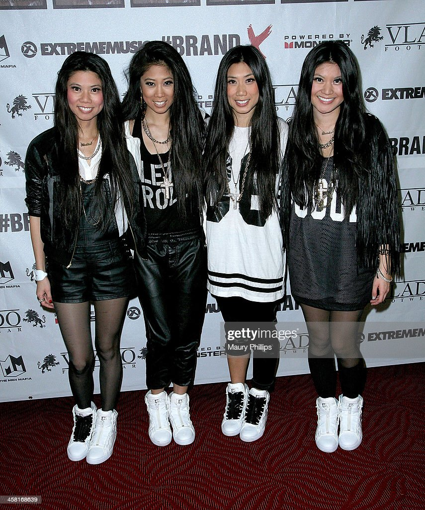 Sisters attend Brand X Live with Eric Bellinger at the El Rey Theatre on December 19, 2013 in Los Angeles, California.
