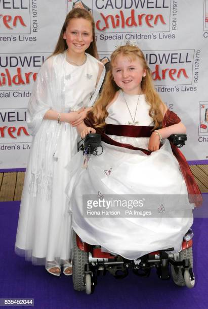 Sisters Candice left and Tilly Griffiths from Cheddleton Staffordshire who created a picture together which inspired this year's Butterfly Ball...