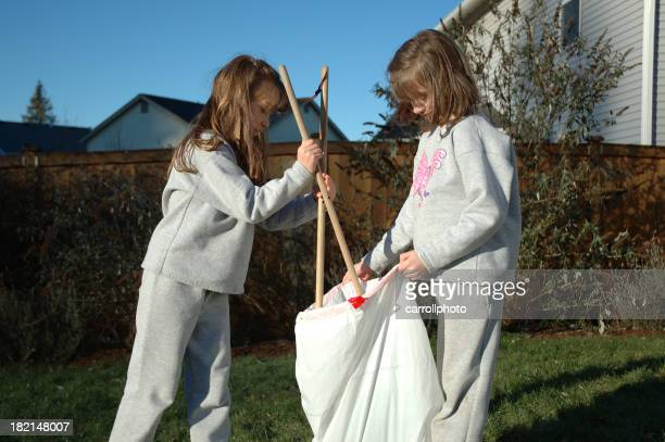 Sisters Doing Chores 2