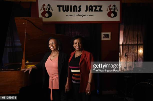 Sisters Kelly left and Maze Tesfaye pose for a portrait photograph inside Twins Jazz a live jazz club in Washington DC March 24 which they opened 30...
