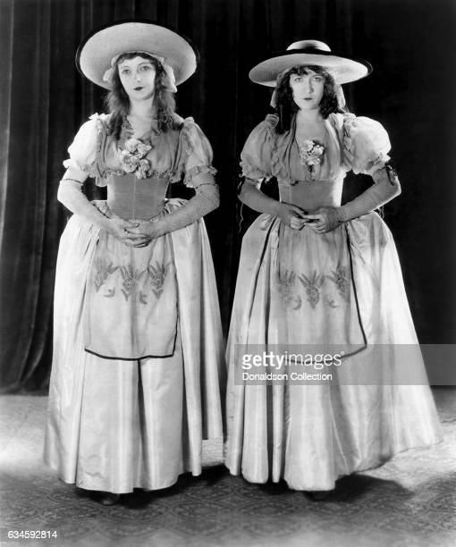 Sisters Lillian Gish and Dorothy Gish pose for a publicity still for the DW Griffith Productions/United Artists film 'Orphans of the Storm' in 1921...