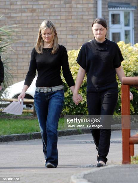 Sister's of Lindsay Ann Hawker Lisa and Louise outside their home in Brandon near Coventry