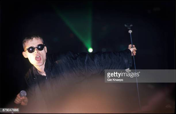 Sisters Of Mercy Andrew Eldritch performing on stage Pukkelpop Festival Hasselt Belgium 29th August 1992