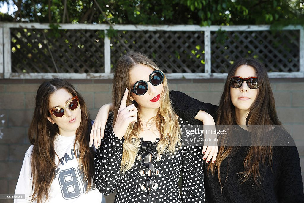 Sisters of the band <a gi-track='captionPersonalityLinkClicked' href=/galleries/search?phrase=Haim+-+Band&family=editorial&specificpeople=10102403 ng-click='$event.stopPropagation()'>Haim</a>, <a gi-track='captionPersonalityLinkClicked' href=/galleries/search?phrase=Danielle+<a gi-track='captionPersonalityLinkClicked' href=/galleries/search?phrase=Haim+-+Band&family=editorial&specificpeople=10102403 ng-click='$event.stopPropagation()'>Haim</a>&family=editorial&specificpeople=2499485 ng-click='$event.stopPropagation()'>Danielle <a gi-track='captionPersonalityLinkClicked' href=/galleries/search?phrase=Haim+-+Band&family=editorial&specificpeople=10102403 ng-click='$event.stopPropagation()'>Haim</a></a>, <a gi-track='captionPersonalityLinkClicked' href=/galleries/search?phrase=Este+<a gi-track='captionPersonalityLinkClicked' href=/galleries/search?phrase=Haim+-+Band&family=editorial&specificpeople=10102403 ng-click='$event.stopPropagation()'>Haim</a>&family=editorial&specificpeople=2499486 ng-click='$event.stopPropagation()'>Este <a gi-track='captionPersonalityLinkClicked' href=/galleries/search?phrase=Haim+-+Band&family=editorial&specificpeople=10102403 ng-click='$event.stopPropagation()'>Haim</a></a>, <a gi-track='captionPersonalityLinkClicked' href=/galleries/search?phrase=Alana+<a gi-track='captionPersonalityLinkClicked' href=/galleries/search?phrase=Haim+-+Band&family=editorial&specificpeople=10102403 ng-click='$event.stopPropagation()'>Haim</a>&family=editorial&specificpeople=9431818 ng-click='$event.stopPropagation()'>Alana <a gi-track='captionPersonalityLinkClicked' href=/galleries/search?phrase=Haim+-+Band&family=editorial&specificpeople=10102403 ng-click='$event.stopPropagation()'>Haim</a></a> are photographed for Los Angeles Times on March 27, 2014 in Studio City, California. PUBLISHED IMAGE.