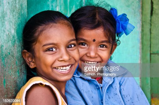 Sisters smiling : Stock Photo