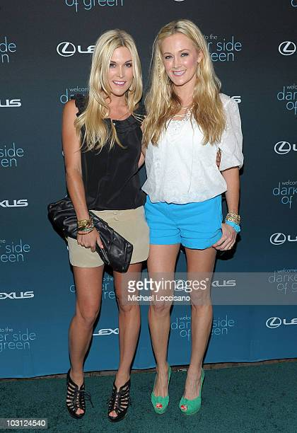 Sisters Tinsley Mortimer and Dabney Mercer attend 'The Darker Side of Green' debate at The Bowery Hotel on July 27 2010 in New York City