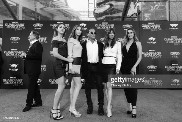 Sistine Rose Stallone Scarlet Rose Stallone actor Sylvester Stallone Jennifer Flavin and Sophia Rose Stallone at The World Premiere of Marvel...