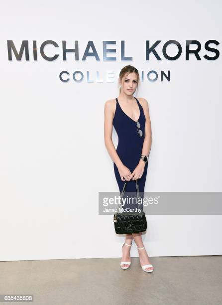 Sistine Stallone attends the Michael Kors Collection Fall 2017 runway show at Spring Studios on February 15 2017 in New York City