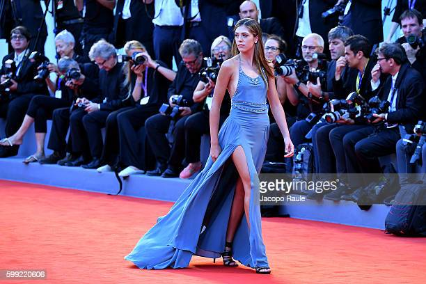 Sistine Stallone attends the premiere of 'Hacksaw Ridge' during the 73rd Venice Film Festival at Sala Grande on September 4 2016 in Venice Italy